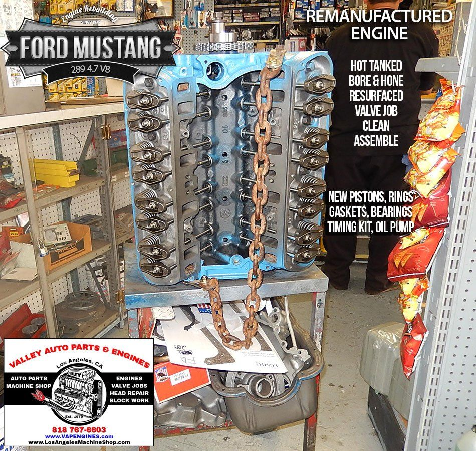 Ford Mustang 289 4 7 V8 Remanufactured Engine Ford Mustang Mustang Remanufactured Engines