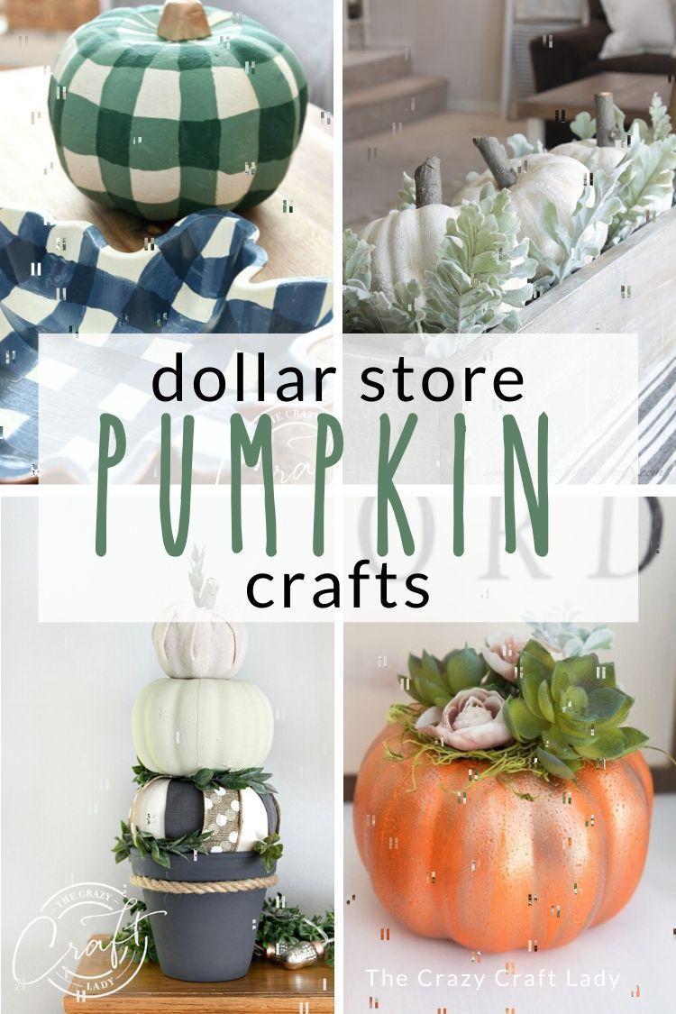 Dollar Store Pumpkin Crafts For Fall Pumpkin Crafts Diy Dollar Store Crafts Dollar Stores