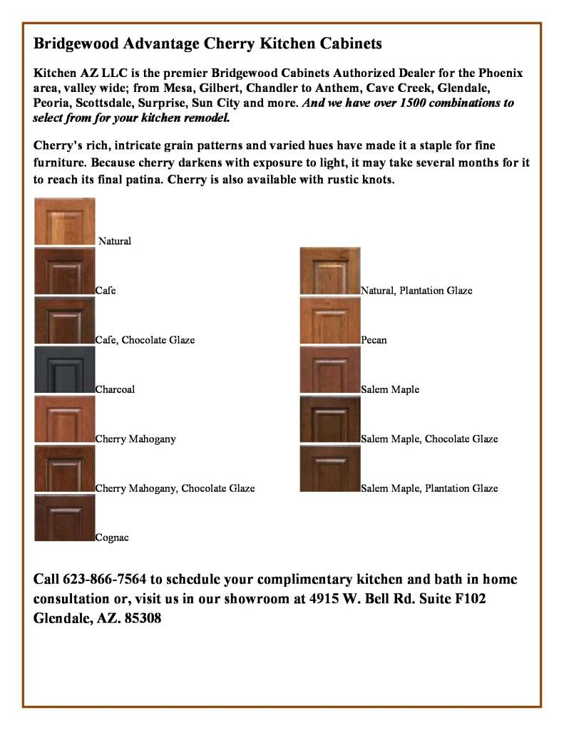 Maple Kitchen Cabinets We Offer in Phoenix by Bridgewood and their ...