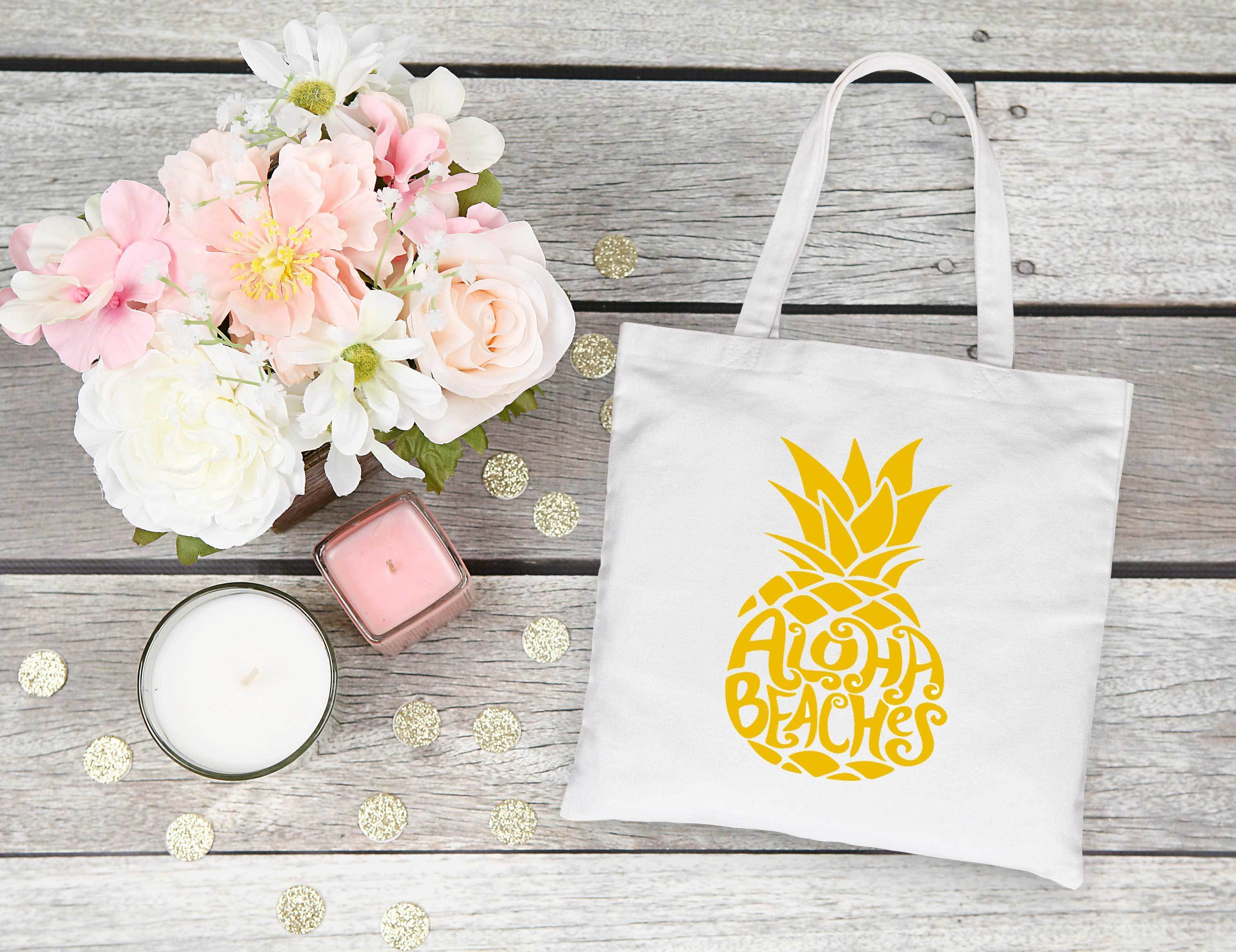 Aloha Beaches, customizable tote bag, beach, beach bachelorette ...