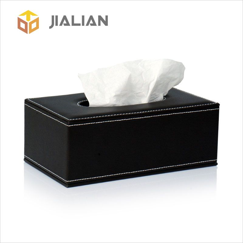 The Black Leather Rectangular Tissue Box Holders Cover Is Using Of Comfortable And Environment Friendly Faux Leather An Tissue Boxes Tissue Box Holder Leather