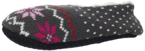 Modern Heritage Women's Giftable Knit Fair Isle Slipper Sock, Steel Grey, One Size Modern Heritage. $9.99. Faux sherpa lining. No-slip rubber dots on sole. Made in China. Upper: 98% Acrylic/2% Polyester; Inner: 100% Polyester. Machine Wash. Save 17%!