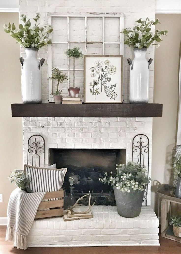 Mantel Decorating Ideas For The Holidays: 50 Simple Beauty Spring Mantel Decoration Ideas On A
