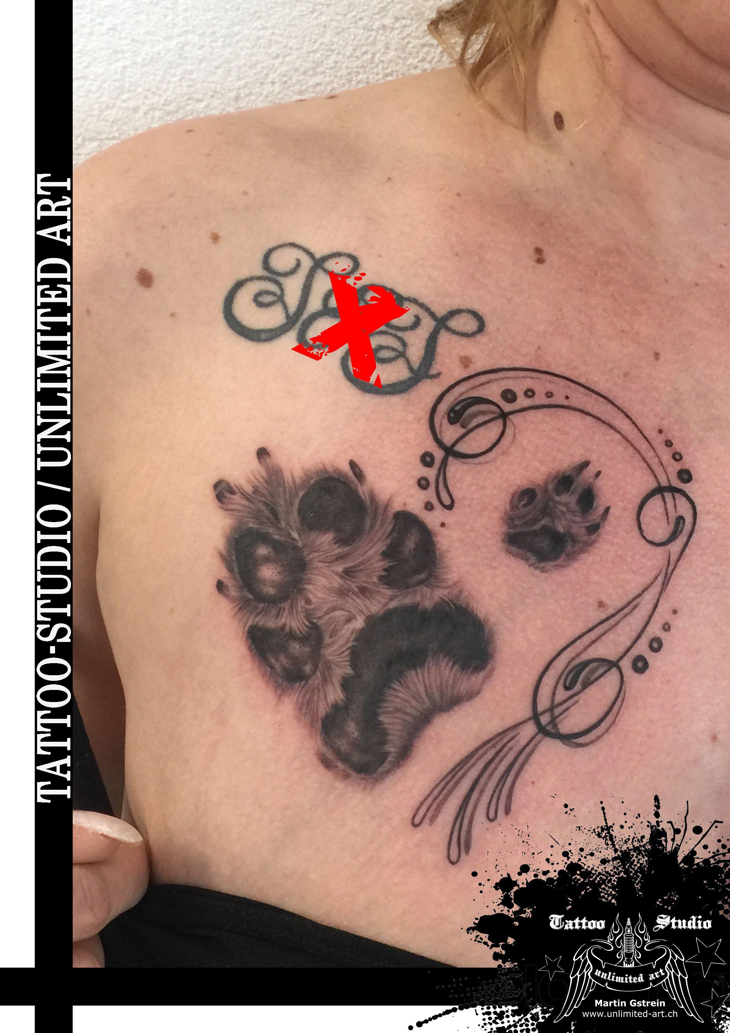 Hundepfote Schnorkel Realistic Tattoo Mit Bildern Girly Tattoos Hundepfoten Pfoten