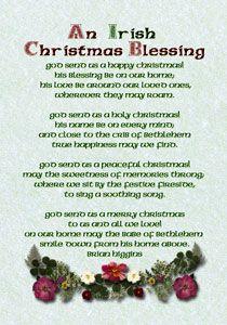 Irish Christmas Blessings, Greetings, and Poems | Christmas ...