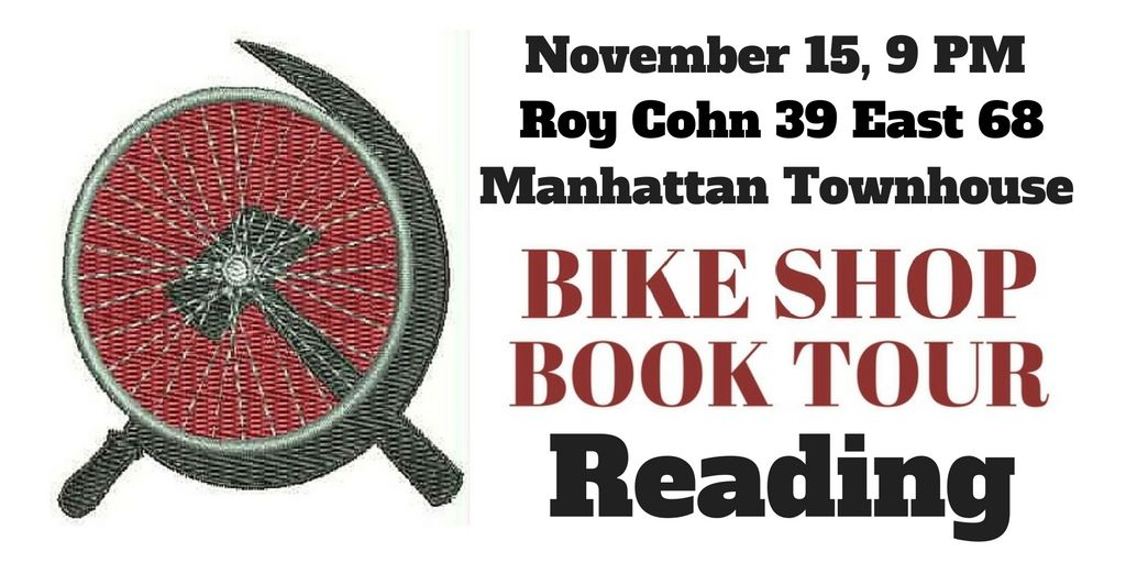 BIKE SHOP BOOK TOUR My intention to record reading The