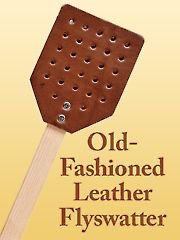 Old-Fashioned Leather Flyswatter - Set of 2