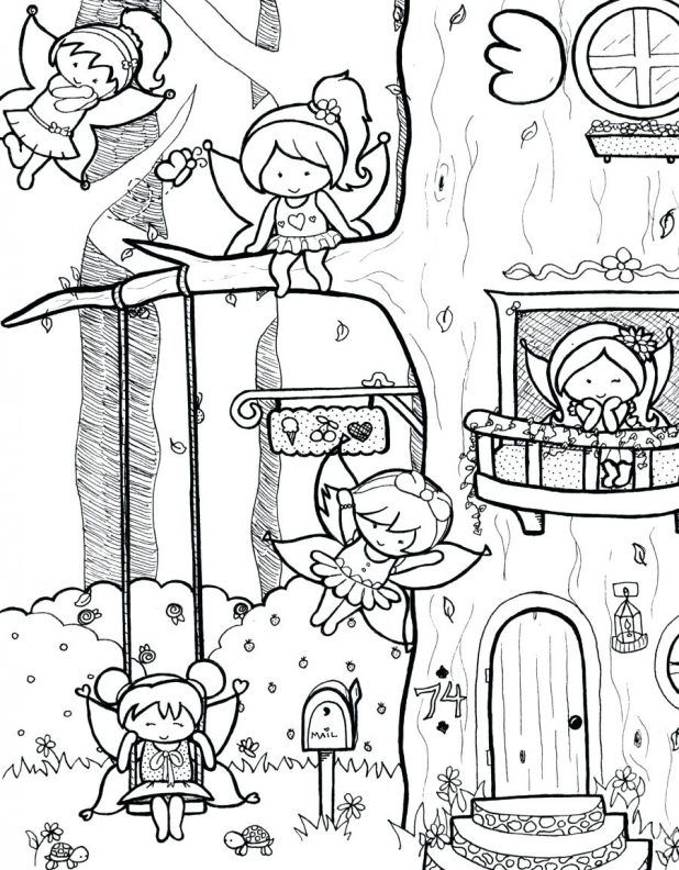 Disney Fairy Coloring Pages Printable Detailed For S Tale Pdf Cute