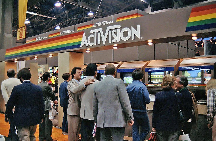 Activision's booth at the 1984 Consumer Electronics Show.
