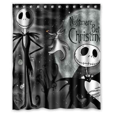 Bathroom Nightmare Before Christmas Waterproof Shower Curtain 60 X 72 Inch