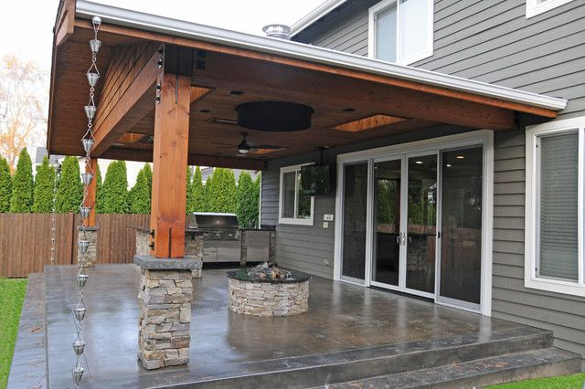 20 beautiful covered patio ideas | stone patio designs, stone ... - Covered Patio Designs