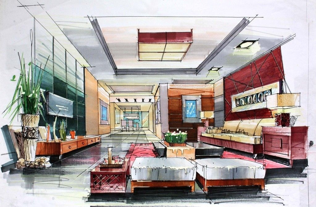 1000 Images About Interior Design Draw On Pinterest Modern Home Ideas Design Sketch Interior