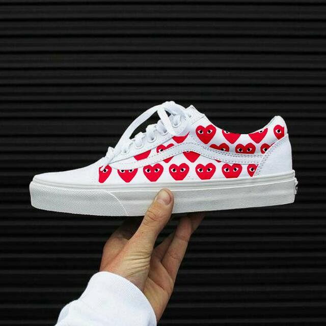 PLAY Commes des Garcons x Vans | Vans, Womens sneakers, Sneakers