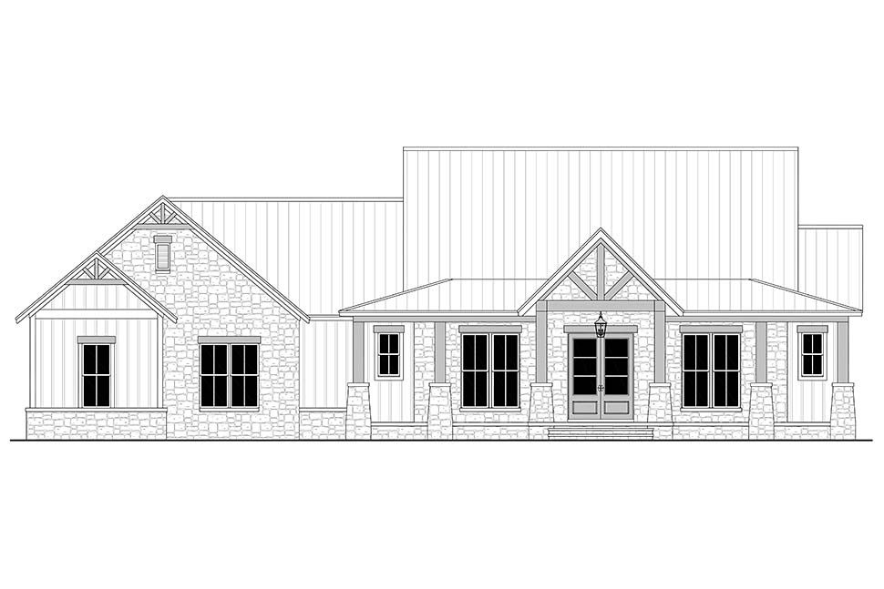 House Plan 80801 Traditional Style With 2454 Sq Ft 3 Bed 2 Bath 1 Half Bath Coolhouseplans Farmhouse Style House Plans House Plans Farmhouse Style House Traditional house plan 80801