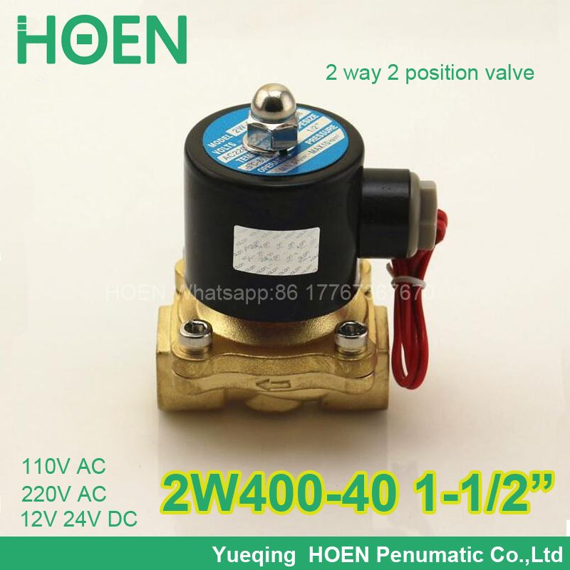 3//4 YIDAY DC12V 2-Way Normally Closed Valve Brass Electric Solenoid Valves for Air Water