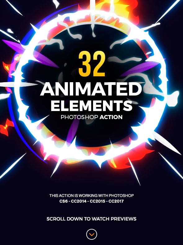 32 Animated Effects Action - Photo Effects Actions 2d