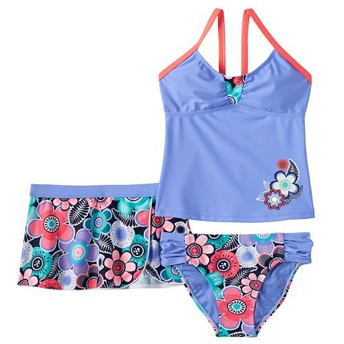 f88f23d61b2a2 Girls 7-16 ZeroXposur Floral Tankini Swimsuit & Shorts Set | Lexi ...