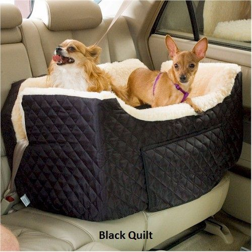Snoozer Large Lookout Dog Car Seat - Black Quilt