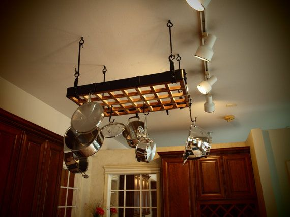 Custom Forged Hanging Pot Rack By Elementsofironnwood On Etsy 650 00