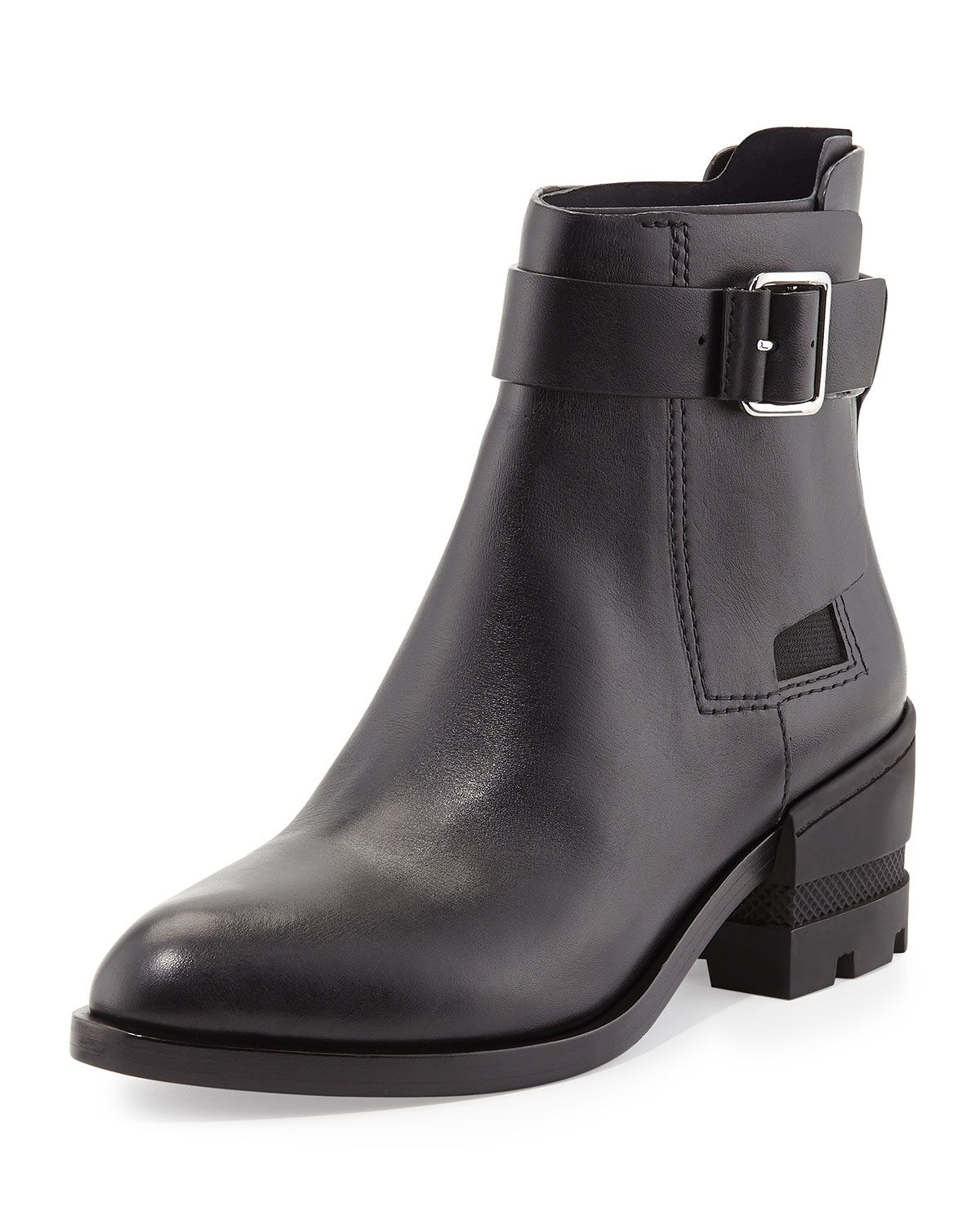 Martine Buckled Ankle Boot, Black - Alexander Wang