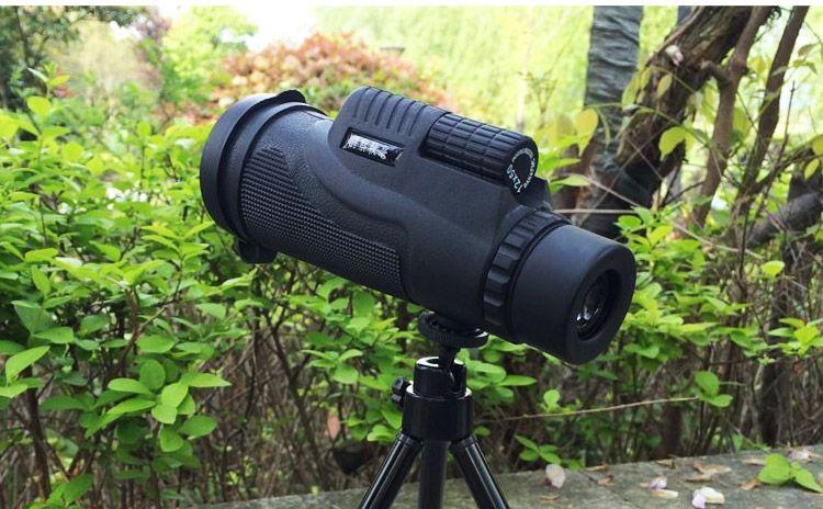 Universal 12x50 Hiking Concert Camera Lens Telescope Monocular+Phone Holder For…