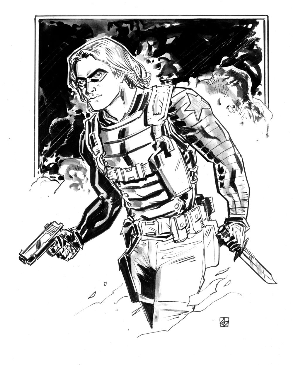 Bucky coloring pages ~ Bucky Barnes, the Winter Soldier by deankotz on DeviantArt ...