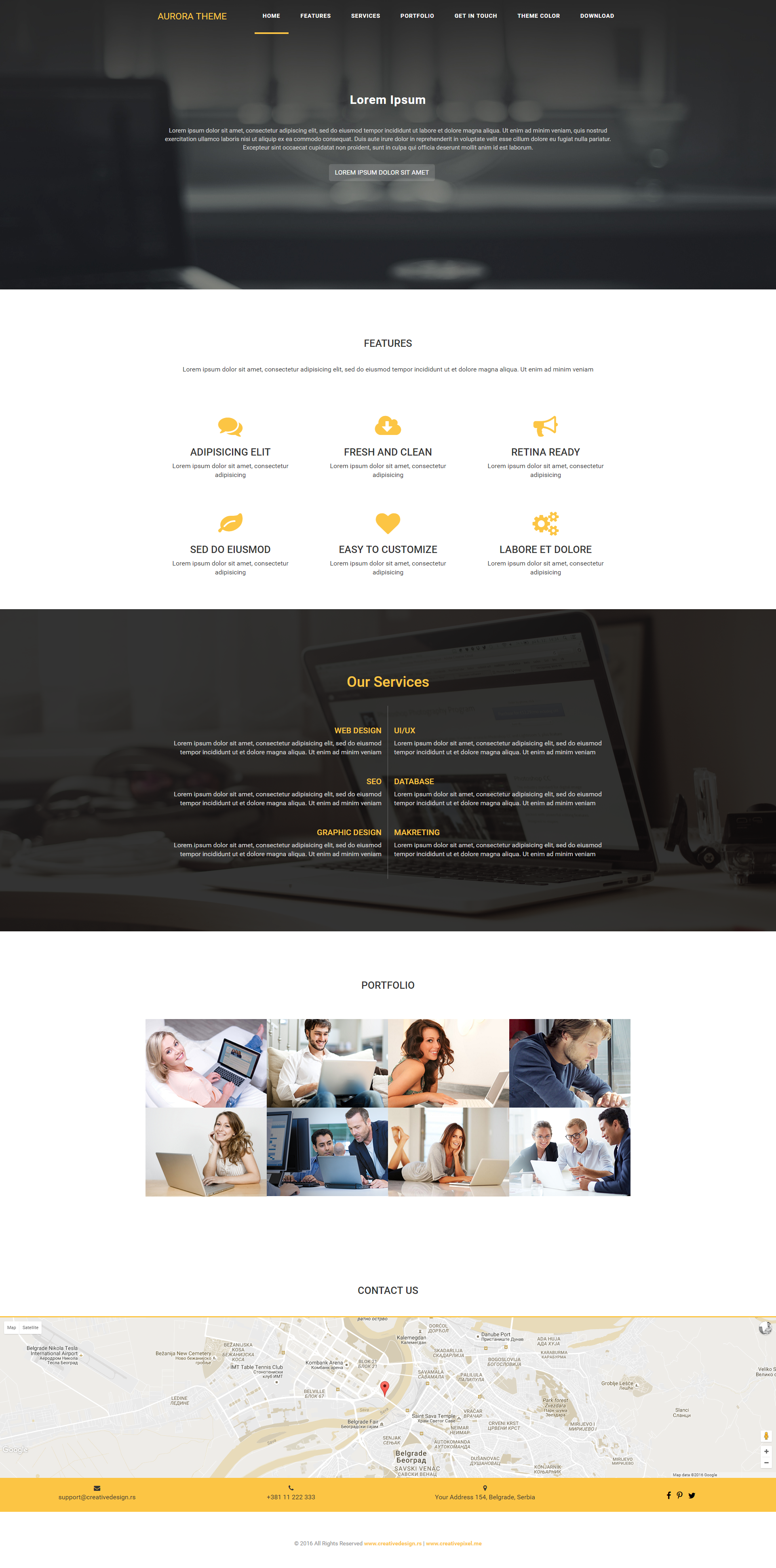 Free Bootstrap Theme. AURORA is an extremely simple & fast loading ...