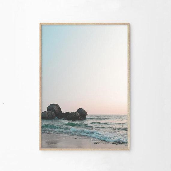 Beach Print Beach Decor Wall Art Print Ocean Print