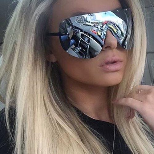 c276415aa1 Oversized Huge Big Mask Shield Half Face Owen Polarized Large Mirror  Sunglasses