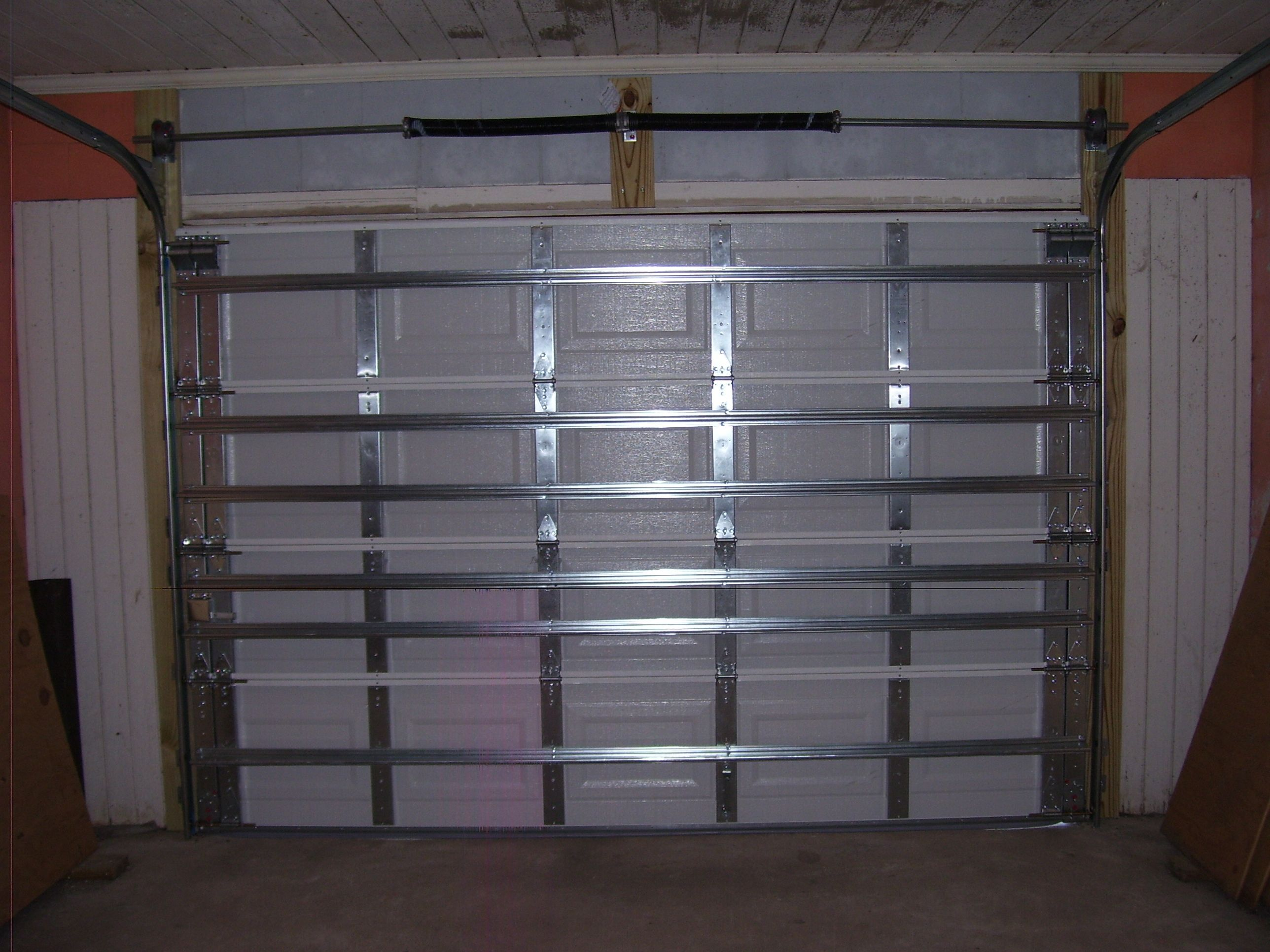 The Inside View Of A Wind And Impact Rated Garage Door.