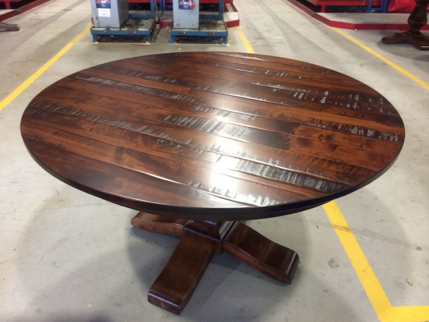 This Is A Beautiful Custom Build Solid Wood Round Table That A Customer  Requested. #