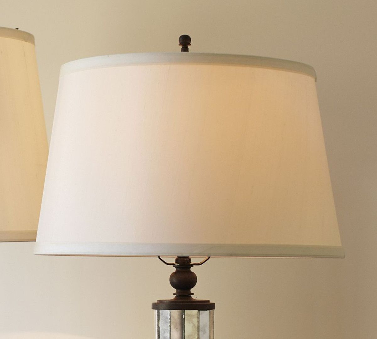 Silk Tapered Drum Lamp Shade