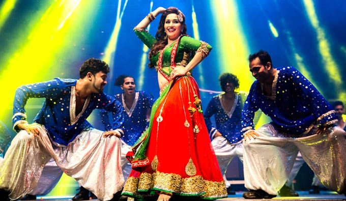 Madhuri Dixit performs at the Temptations Reloaded 2013 show in Sydney. #Bollywood #Fashion #Style #Beauty