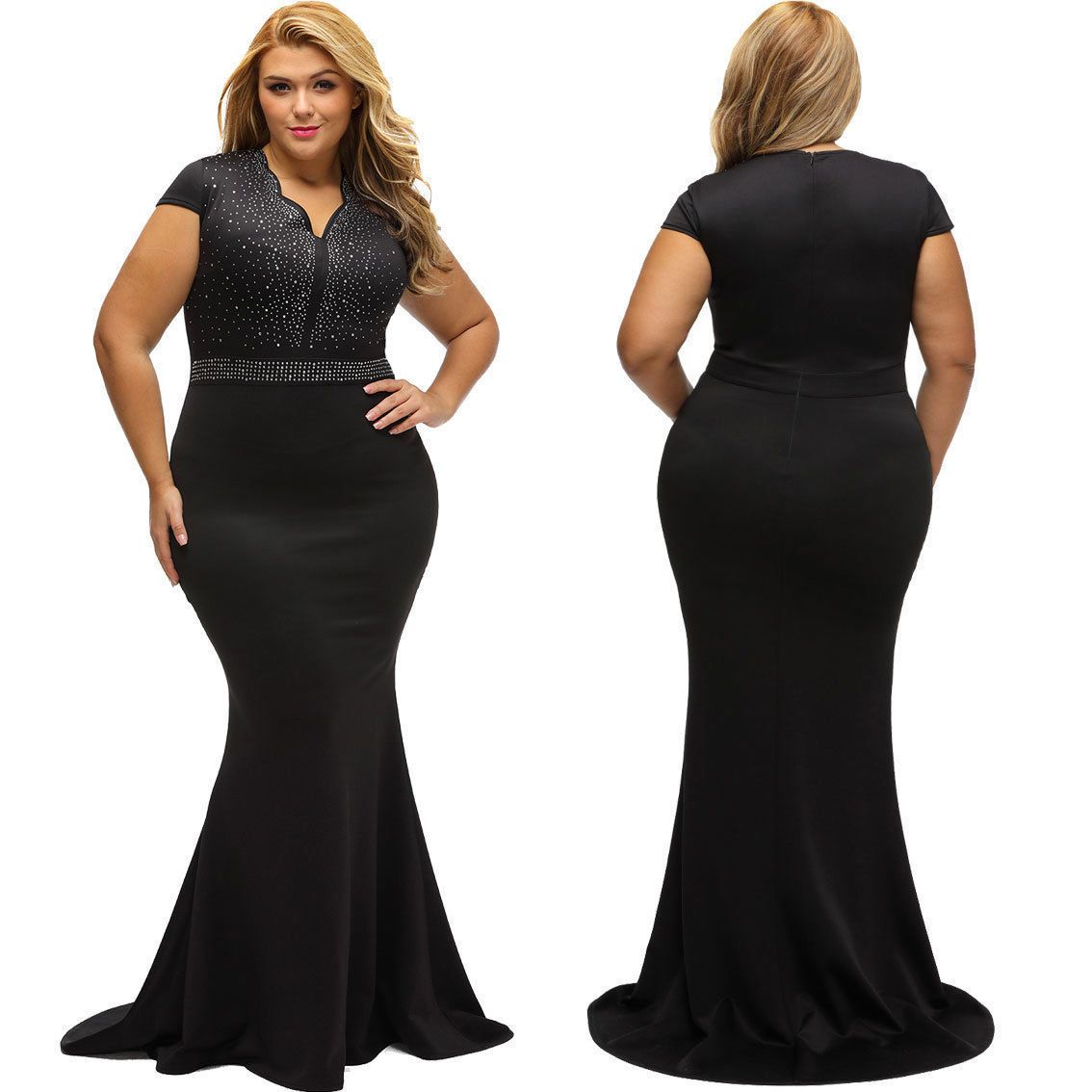 Plus Size Womens Formal Bridesmaid Ball Gown Prom Club Party ...