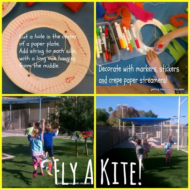 For step-by-step directions on how to make this simple paper plate kite go here: http://www.mpmschoolsupplies.com/ideas/7034/easy-spring-kite-craft-for-kids/
