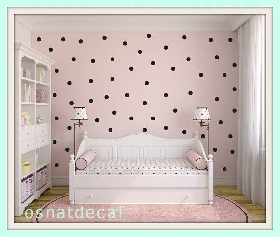 FREE SHIPPING Black Dots, Larg Kit Contains: 126 . Wall Decal With Home Decor Nursery Wall Sticker Art Digital