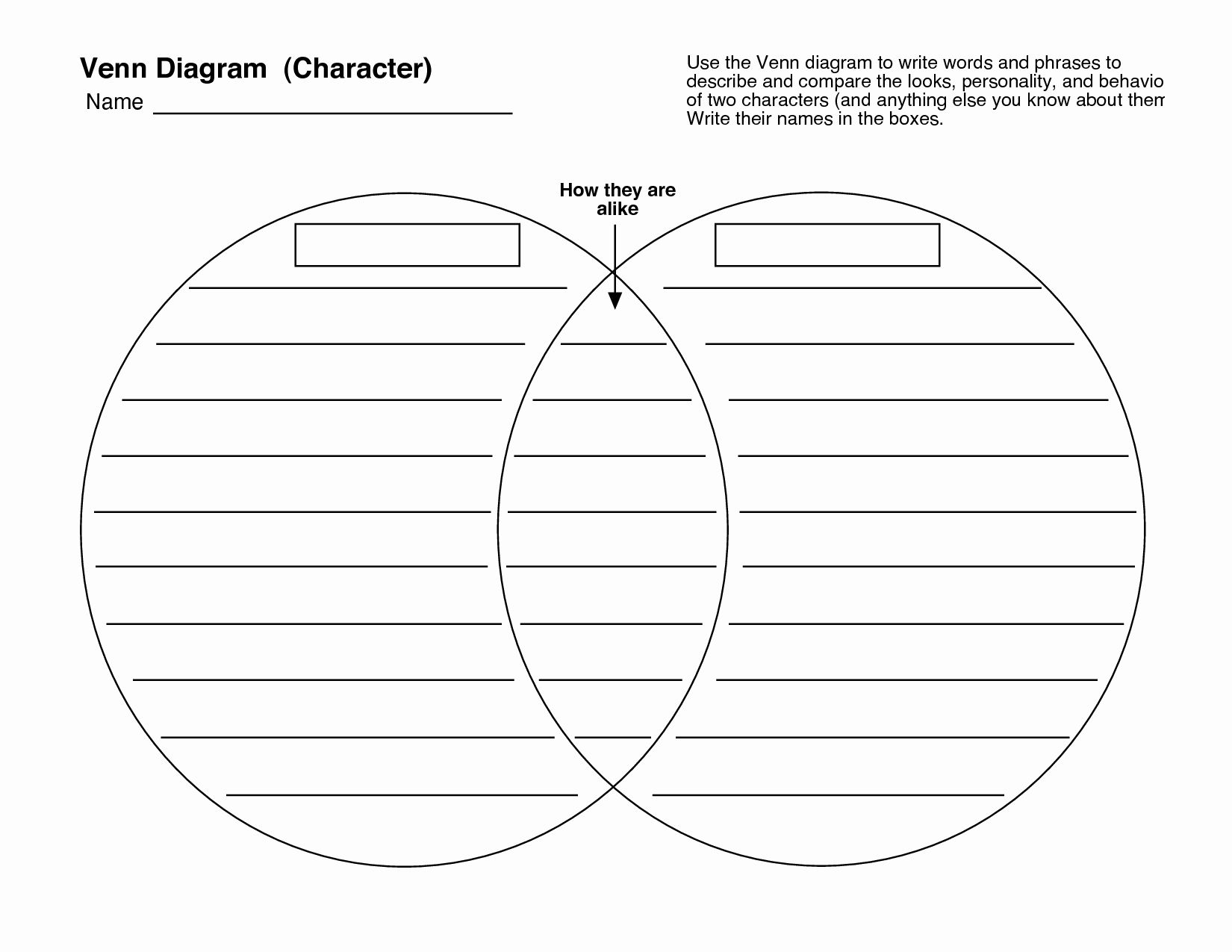 Free Venn Diagram Template Lovely 25 Awesome Pare Contrast