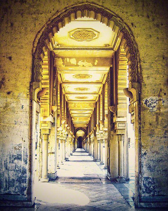 Travel photography door doorway grey yellow by TravelingGalPhotos, $50.00