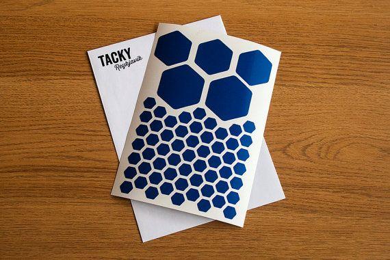 Retro reflective Hexagon sticker - Retro reflective decal