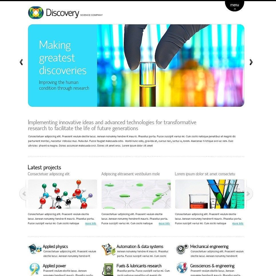 in love science moto cms html template click here live demo