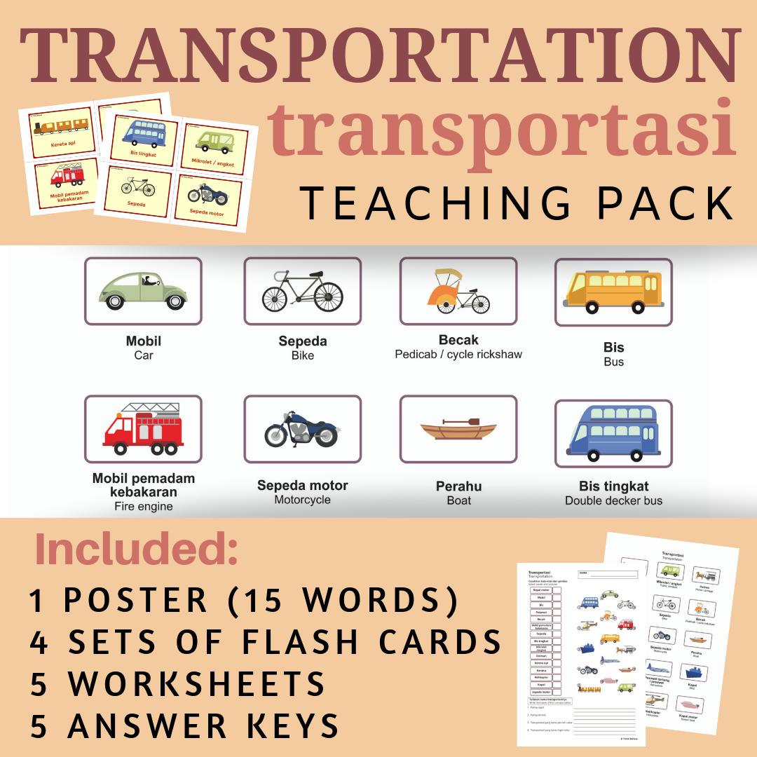 Indonesian Transportation No Prep Packet Poster Flash