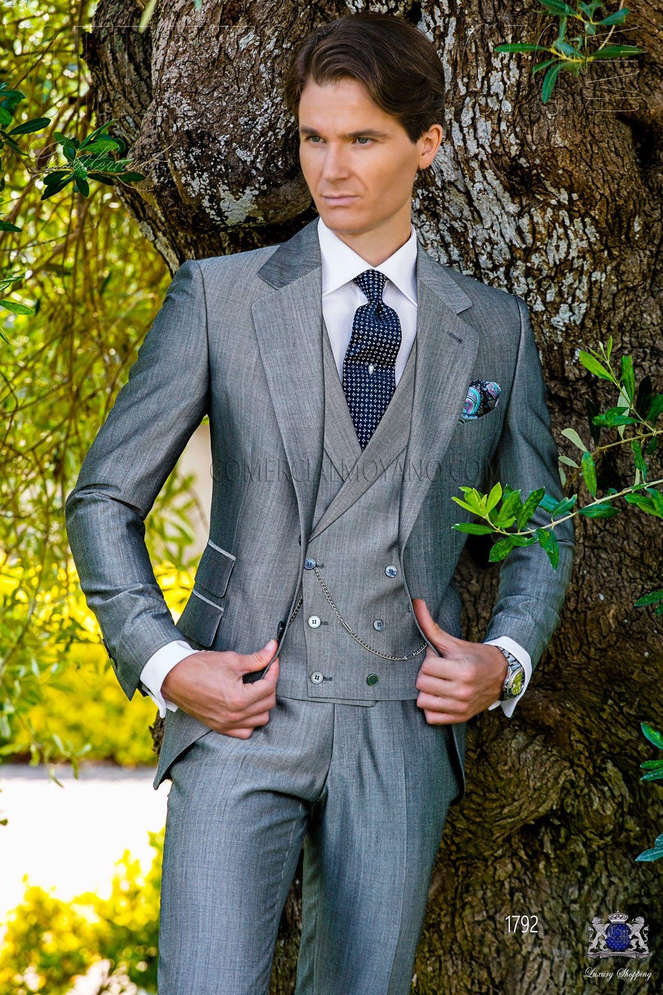 traje de novio gris de lana mohair alpaca three piece suits pinterest hochzeitsanzug. Black Bedroom Furniture Sets. Home Design Ideas