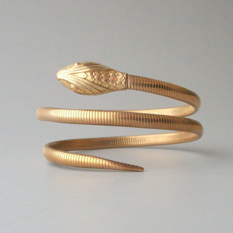 Gold Snake Bracelet Forstner Gold Fill Double Coil Snake bracelet