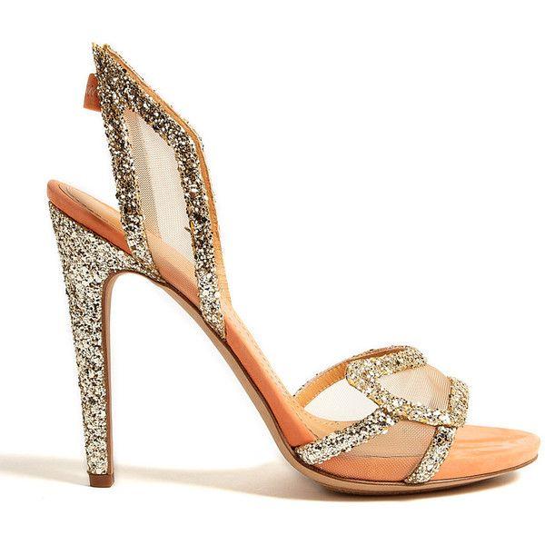 Aperlai Paris Spokette Glitter Stilettos ($864) ❤ liked on Polyvore
