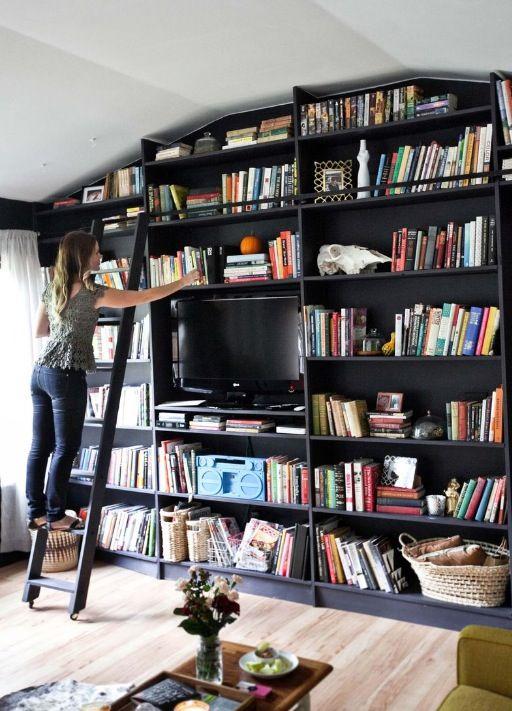Kinderzimmer, Wohnzimmer, Zuhause, Einrichtung, Buecher, Schwarzes  Bücherregal, Hausbibliotheken, Bücherschränke, Benutzerdefinierte  Bücherregale