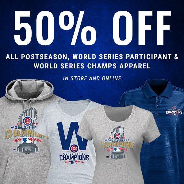 462ae98da1c 50% OFF all Chicago Cubs World Series gear! Shop now!
