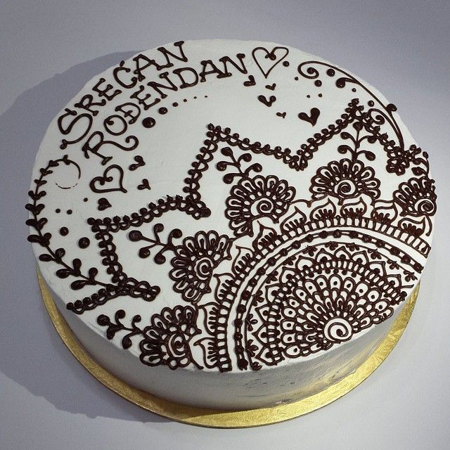 Mehndi Patterns For Cakes : Natalys cookies s photo on instagram henna cake sweets