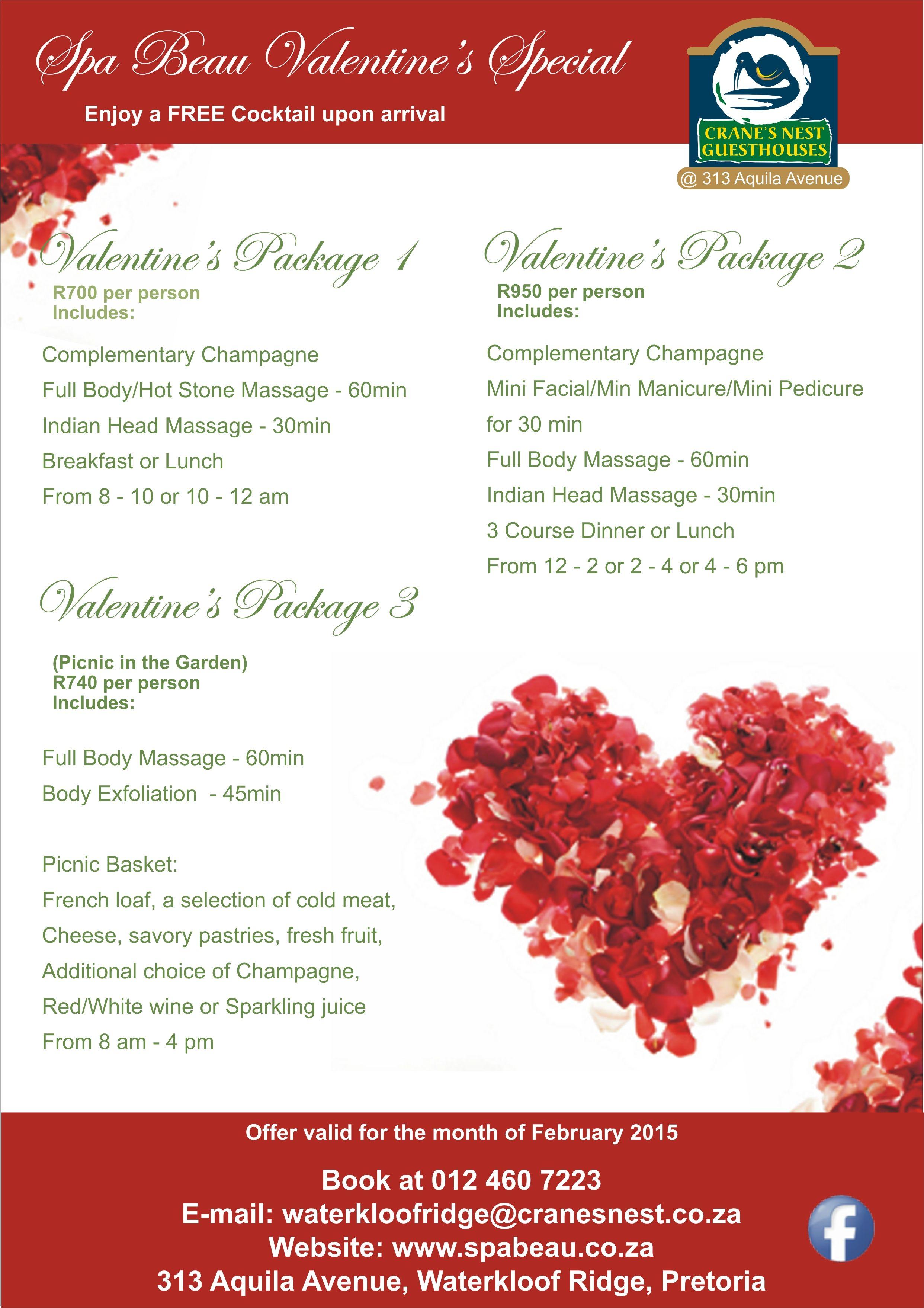 Spa Special Valentines Day Day Spa Specials Spa Specials Valentine Day Massage