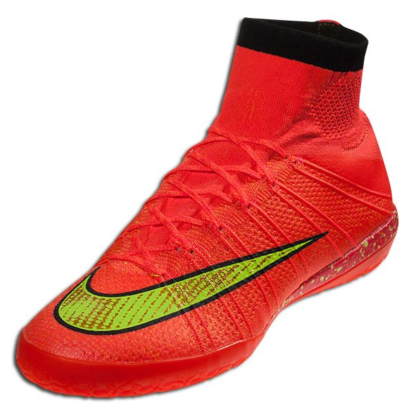 5af4fff4189f Nike Elastico Superfly IC - Hyper Punch/Volt/Gold/Black Indoor Soccer Shoes