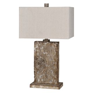 @Overstock.com - Erindale Table Lamp - This beautiful lamp features a warm brown and silver antiqued finish on the natural wood grain molded base. This lamps is finished with a rich beige linen shade and matching square finial.    http://www.overstock.com/Home-Garden/Erindale-Table-Lamp/7547267/product.html?CID=214117 Add to cart to see special price